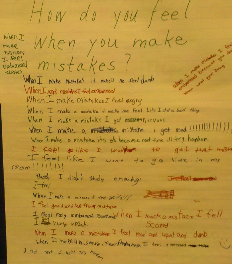 how do you feel mistakes